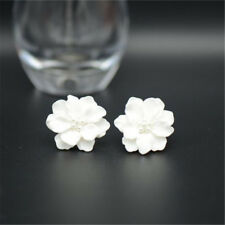 1 Pair Jewelry Gifts Stud Earring Simulated Pearl White Flower Camellia Lady's