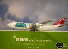 Sky500 1:500 Boeing 747-200 F Northwest Airlines n643nw + Herpa Wing catalogue