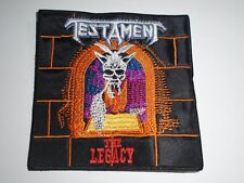 TESTAMENT THE LEGACY EMBROIDERED PATCH