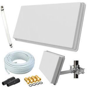 Selfsat Flachantenne H30D1+ Digital Sat Anlage 10m Kabel Fensterhalterung HD 4K