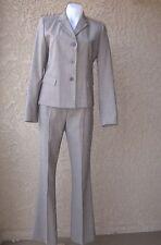 City DKNY women's wool blend brown tweed 2-piece suit 6 jacket 8 pants
