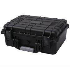vidaXL Protective Equipment Case Hard Carry Case Storage Box Black 16