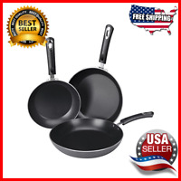 Kitchen Nonstick Frying Pan Cookware Set 3 Piece Induction Bottom Light-Weighted