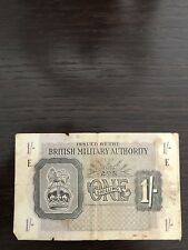 1 BILLET BANQUE GRANDE BRETAGNE  1 ONE SHILLING BRITISH MILITARY 1943