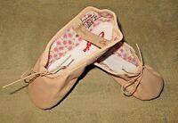 Capezio 205SC Split Sole Daisy Leather Ballet Pink Shoes Size 13.5N 13.5 Narrow
