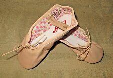 Capezio 205SC Split Sole Daisy Leather Ballet Pink Shoes Size 13.5W 13.5 Wide