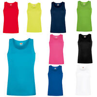 Fruit of the Loom Lady Fit Performance Vest Tank Top Wicking Running Gym - SS271