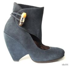 new MARC JACOBS navy suede shoes BOOTIES 37.5 US 7.5 - very unique