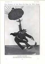 1906 Will Owen Cartoon The Expert Strap Hanger Balloon Dudley Buxton