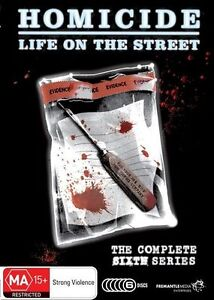 B41 BRAND NEW SEALED Homicide Life On The Street : Series 6 (DVD, 2011, 6-Disc)