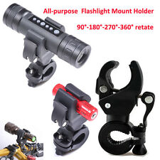 VTT Vélo Bicyclette Pince Support Lampe de Poche Clip LED Flashlight Fixation