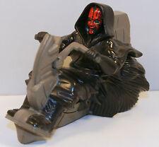 """1999 Darth Maul 4.5"""" Desert Sith Speeder Rip-Cord Toy Star Wars Applause"""