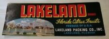 Lakeland Brand Florida Citrus Fruits Lakeland Packing Co Florida Crate Label