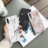 For Huawei P20 P30 Pro Mate 20 Lite Matte Shockproof Marble Hard Back Case Cover