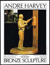 1977 Vintage Andre Harvey Artist Decision Sculpture Photo Art Print Ad