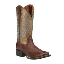 Ariat Western Womens BOOTS Round up Wide Square Toe Yukon Brown 10016317 10