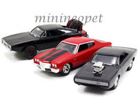 JADA 97426 FAST AND FURIOUS DOM'S RIDES 3 PACK SET 1970 CHARGER CHEVELLE 1/55