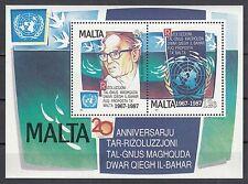 Malta Block 10 postfrisch UNO - Resolution für die friedliche Nutzung des Meeres
