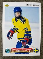 92-93 Upper Deck MARKUS NASLUND Rookie Card #234 WJT Team Sweden Mint
