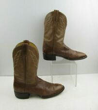 Ladies Hondo Brown Smooth Ostrich Leather Round Toe Western Boots Size: 8 B