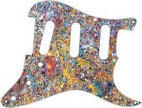 Stratocaster Pickguard Custom Fender SSS 11 Hole Guitar Pick Guard Rusted Metal