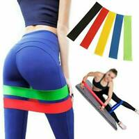 5x Yoga Pilate Resistance Elastic Training Rubber Band Stretch Exercise Fitness