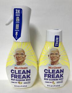 (2) Mr. Clean Freak Multi Surface Deep Cleaning Mist- Lemon Zest 🍋-16oz. Each