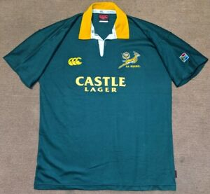 SOUTH AFRICA (SA SPRINGBOKS) 2004 CANTERBURY RUGBY UNION SHIRT JERSEY