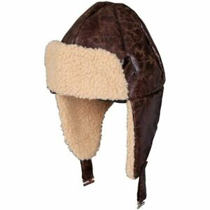 Wicked Costumes Aviator Hat With Faux Sheepskin