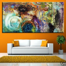 YAKAI 100% Hand-painted Large Furniture abstract Decorative oil painting 24x48in