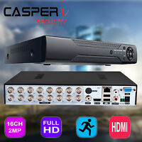 CASPERi 16 Channel HD CCTV 1080P DVR TVI CVI AHD H.264 Digital Video Recorder UK