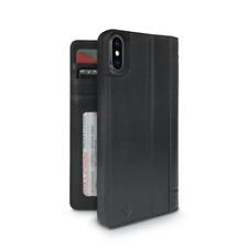 Twelve South Journal Premium Leather Folio Wallet Case for iPhone X Black