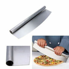 Large Pizza Cutter Mezzaluna Stainless Steel Professional Heavy Duty Slicer 32cm