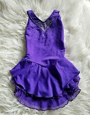 Purple Ice Figure Skating Competition Dress Child M/L 10