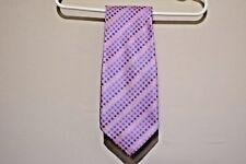 Ermenegildo Zegna Men Silk Pink Neck Tie with Geometric Shapes - 63L X 4.25W