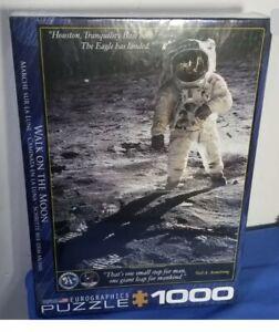 1000 Pc Puzzle WALK ON THE MOON-Apollo 11 NASA Armstrong Buzz Aldrin 19 X 27 NEW