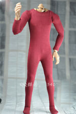 "DIY 1/6 Scale Fuchsia Jumpsuit Siamese Clothing For 12"" Male Action Figure Doll"