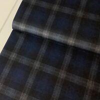 Blue Tartan, Punta Melange, Polyester / Viscose / Spandex Jersey, Dressmaking