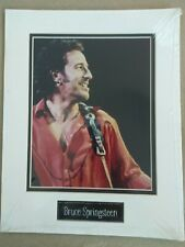 SEALED Vintage Bruce Springsteen 8x10 Photo Matted + Metal Name Plate