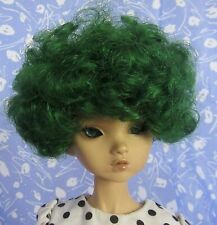Imsco Doll Wig Emerald Green  Full Cap Size 8  Afro Texture, Quite Pretty !!!