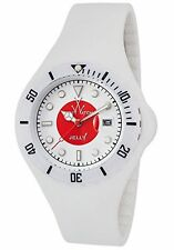 ToyWatch Unisex Japan Whit & Red Dial White Rubber Strap Quartz Watch JYF04JP