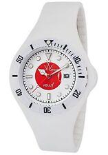 ToyWatch Unisex Japan Whit & Red Dial White Rubber Strap Quartz Watch Jyf04jp
