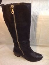 Clarks Black Knee High Leather Boots Size 6.5D
