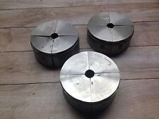"""NEW LOT OF HARDINGE S50 COLLET PADS 1 """" ROUND , HEX , SERRATED"""