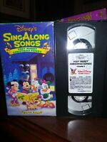 Disney's Sing Along Songs - Very Merry Christmas Songs VHS RETRO FREE SHIPPING