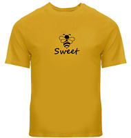 Bee Sweet Unisex Tee T-Shirt Mens Women Tshirt Gift Print Honey Bee Shirt