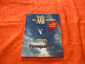 Bd XIII - L'enquête , première édition 1999