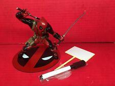 Deadpool ARTFX+ Marvel Now Kotobukiya Figure With Sign Red Suit