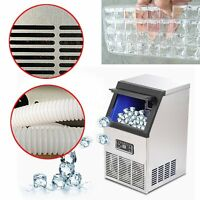 50kg Commercial Ice Maker Cube Machine Stainless Steel Bar 110Lbs 230W 110V 220V