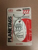 Boeing 777 Japan Airlines Aircraft SkinPlane Tag / Planetags - Free Shipping
